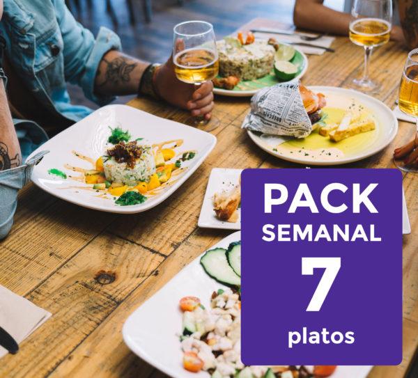 Pack Semanal de 7 Platos